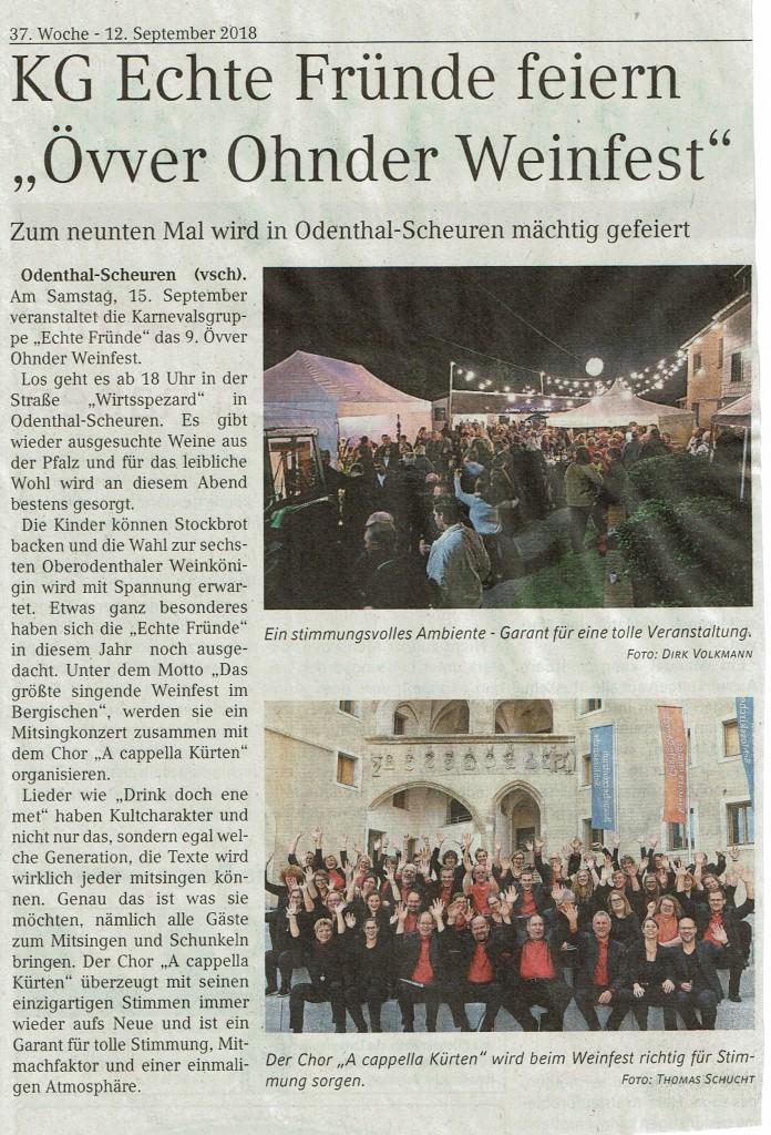 Övver Ohnder Weinfest 2018